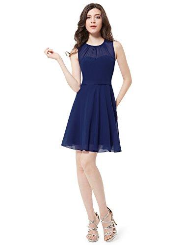Ever Pretty Robe Casual Courte Bleu saphir Elegante 05253 Bleu Marine