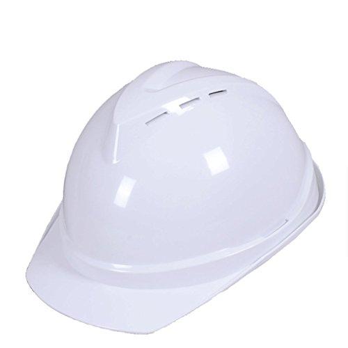 DGF Casque respirant sécurité V-type casque casque réparation usine résistant à la chaleur bouchon de protection électrique protection coussin casque (Couleur : Blanc)
