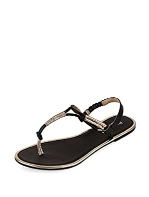 Amica Slexia Women's Black Synthetic Flat Sandals [ASS1402] - 3.5 UK