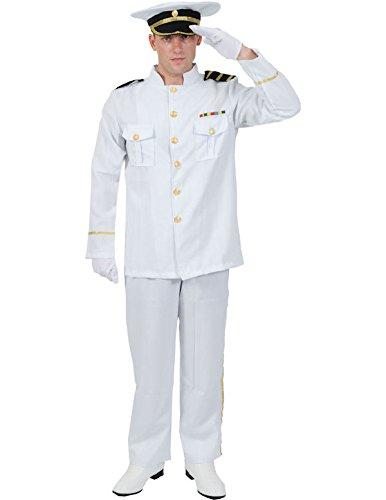 Marine Offizier Kostüm Karneval Herren Verkleidung Mottoparty Extra Large (Top Gun Kostüm Jacke)