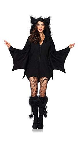 ZC Dawn Abito A Pipistrello, Costumi di Halloween Donna, Costume da Pipistrello Donna con Costumi di Halloween Costumi da Festa,L