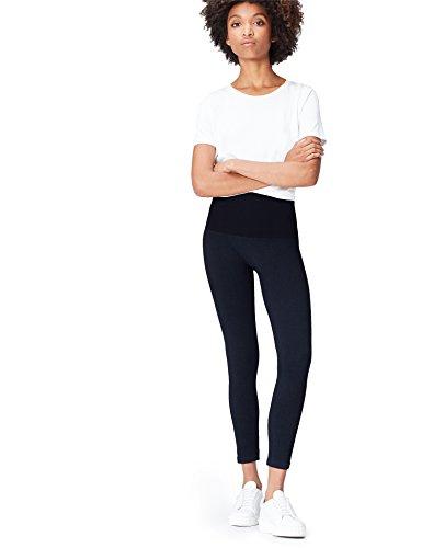 FIND Leggings Efecto Denim para Mujer , Azul (Blue), 38 (Talla del Fabricante: Small)