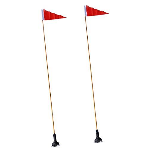 CUTICATE 2X 47 Zoll Sicherheitsflaggen Basisschienenmontage Marine Bootskanu Kajak Werkzeugzubehör