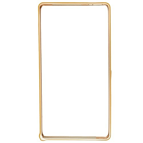 Casotec Metal Aluminium Bumper Frame Case Cover for Sony Xperia Z - Golden  available at amazon for Rs.299
