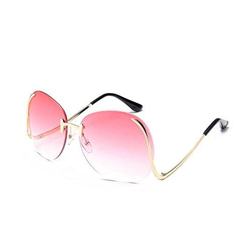 Abeillo Elegant Lady Party überdimensioniert Mode Transparente Optik Lens Sonnenbrillen Rimlesss