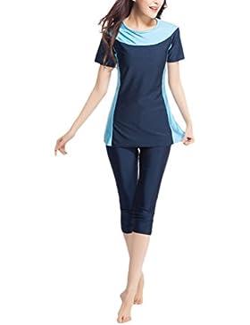 Zhuhaitf Alta calidad Women Two pieces Modest Muslim Short Sleeve Swimwear Swim Costume Swimsuit