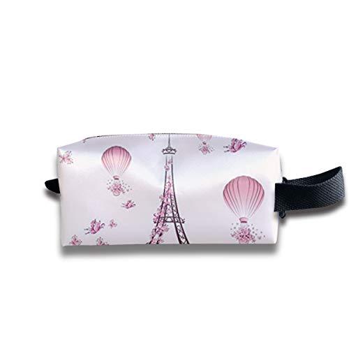Romantik Turm Paris Turm Schmetterling Ballon Tragbare Reise Make-up Kosmetiktaschen Organizer Multifunktions Tasche Taschen für Unisex Bcbg Paris
