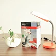 Ante - Lámpara de mesa plegable LED 8W, Lámpara de escritorio blanca y naranja
