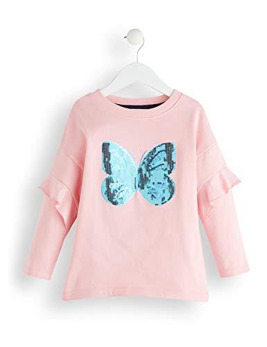 RED WAGON Mädchen Butterly Sequin Sweatshirt, Pink (Multicolour), Gr. 122 (Herstellergröße: 7)