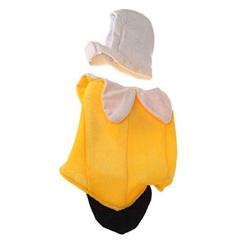 Vektenxi Haustier Kostüm Kleidung, Halloween lustige Bananen Kleidung Hund Katze Bekleidung Cosplay Maskottchen langlebig und praktisch