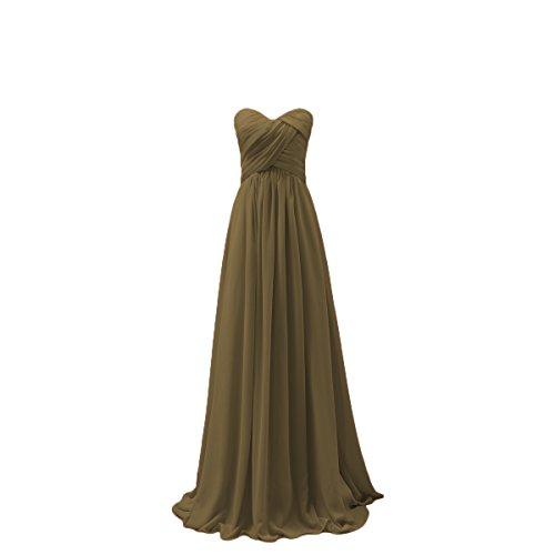 Bridal_Mall - Robe - Trapèze - Sans Manche - Femme Doré clair