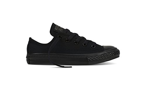 Converse Chuck Taylor All Star Ox, Unisex-Kinder Sneaker, Schwarz (Black Monochrome), 33 EU (1 Child UK) (Converse All Star Kids Schwarz)