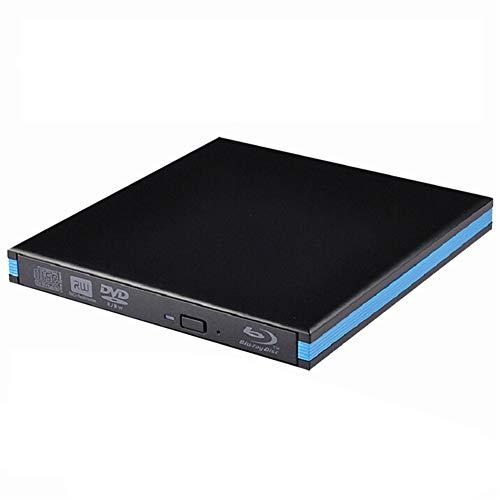 QWER USB 3.0 DVD-Player Blu-ray-Brenner Externes optisches Laufwerk BD-RE Bluray Superdrive Cd/DVD RW Writer Recorder für Laptop-PC,Schwarz