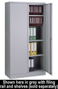 Cheapest Price for Bisley 2-Door Cupboard 914x457x1806mm Coffee/Cream Ready Assembled A722W00CC