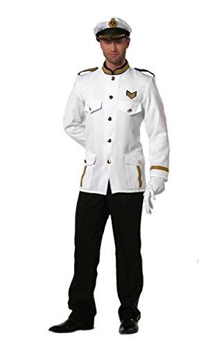 Herren Kostüm Marine Offizier Kapitän Karneval Fasching Gr.50