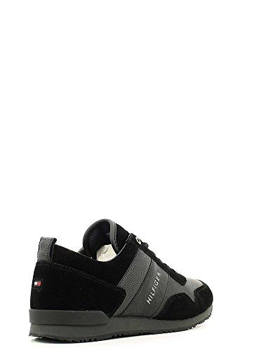 Tommy Hilfiger M2285axwell 11c1, Pompes à plateforme plate homme Noir