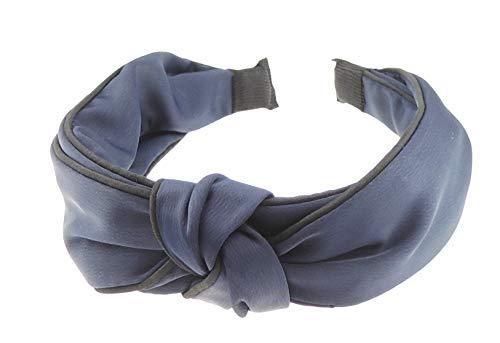Diadema de doble capa de seda para mujer y niña