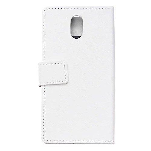Solid Color Kas Textur Muster Leder Schutzhülle Fall Horizontal Flip Stand Case mit Karten Slots für Lenovo P1M ( Color : Purple , Size : Lenovo P1M ) White