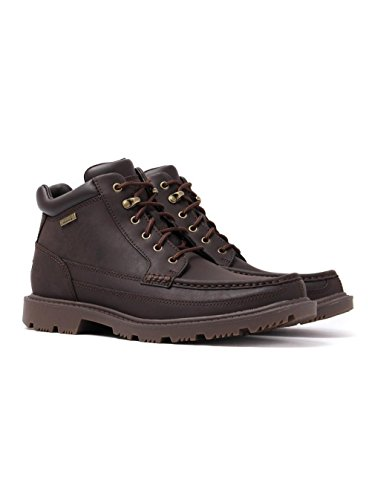 Rockport Redemption Road Moc Toe Leather Ankle Boots Marrone