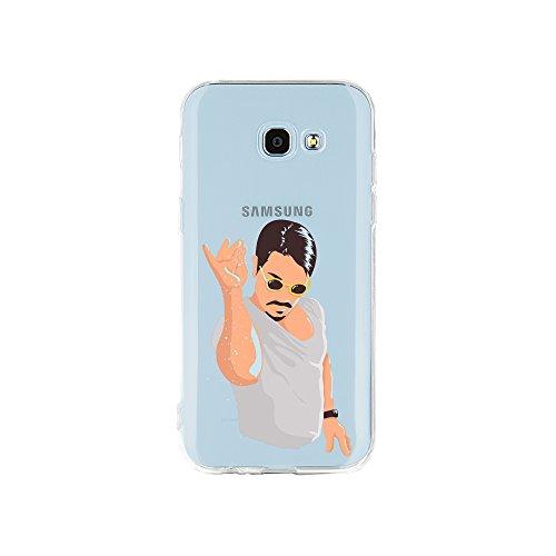 licaso Samsung A5 Handyhülle Smartphone Samsung Case aus TPU mit Glitzer Print Motiv Slim Design Transparent Cover Schutz Hülle Protector Soft Aufdruck Lustig Funny Druck