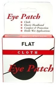 Special EYE PATCH FLAT CLOTH BLACK by Med-Choice (Flat Eye Patch)