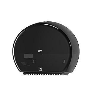Tork 555008 Mini Jumbo Toilet Roll Dispenser T2 / Plastic Dispenser Suitable for T2 Mini Jumbo Toilet System Refills/Wall Mounted Dispenser in Black