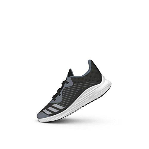 adidas Unisex-Kinder Fortarun Cf K Sneakers noir/argent/gris