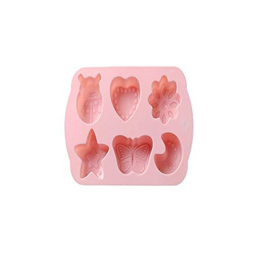lyward 6 Sogar Mond Bug Silikon Backform Schokolade Handgemachte Seifenform Pink, Packung Mit 2