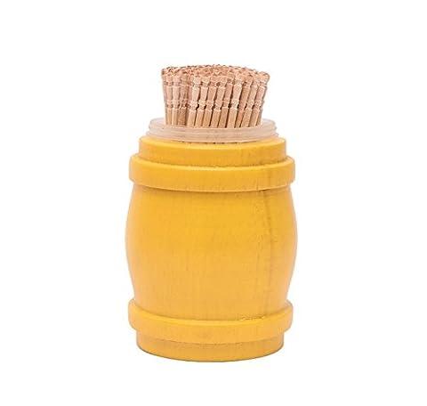 EK DO DHAI Toothpick Yellow Toothpick Holder Barrel Dispenser