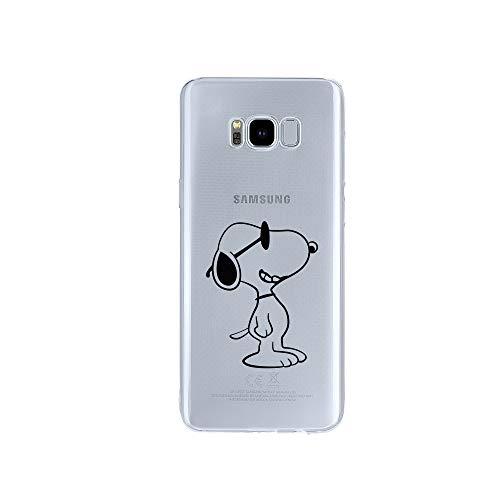 licaso Samsung Galaxy S8 Handyhülle TPU mit Sunny Dog Print Motiv - Transparent Cover Schutz Hülle Hund Sommer Aufdruck Druck