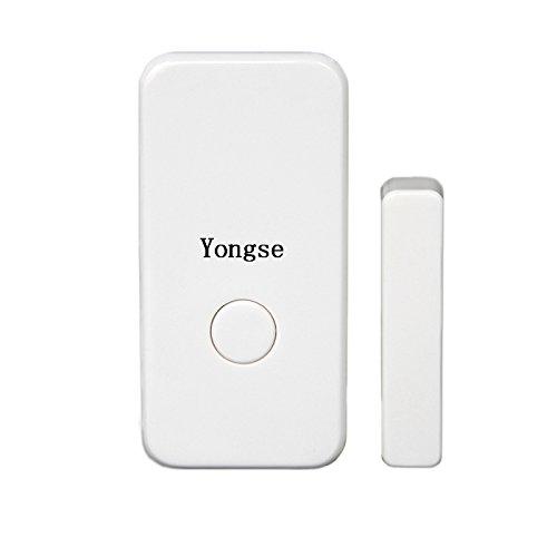 Yongse Funk Tür-/ Fensterkontakt für Funk Alarmanlagen, Funk Abluftsteuerung usw., Weiß