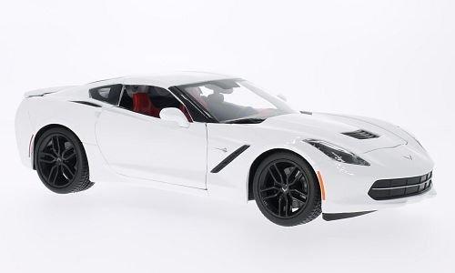 chevrolet-corvette-stingray-z51-c7-weiss-weiss-2014-modellauto-fertigmodell-maisto-118