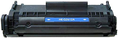YXZQ Tonerkartusche, Kompatible Q2612A HP 2612A Tonerkartusche, Geeignet für HP1020 1010 M1005 1018 Q2612A 12A Drucker, Einfache Installation, Preis-Leistungs-Verhältnis,Schwarz