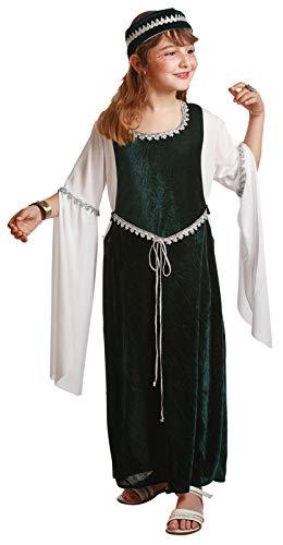 Mittelalterlichen Kostüm für Mädchen (7-9Jahre) (Sieben Von Neun Kostüm)