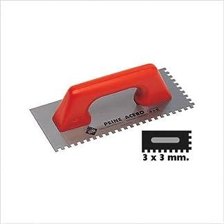 Rubi – Peine Acero 28 Cm. (3 X 3) (65965)