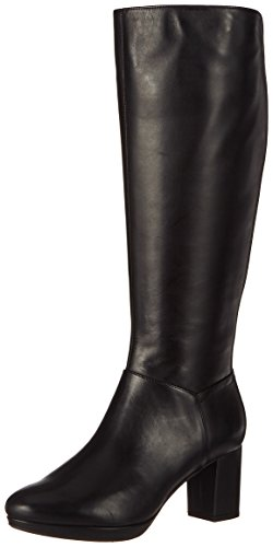 Clarks Damen Kelda Pearl Stiefel, Schwarz (Black Leather), 37.5 EU Casuals China Pearl