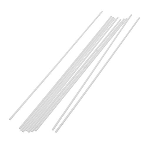 MagiDeal 10er-Set Rundmaterial Rundstangen Rundstange Rundstab für Architektur Modellbau, aus Kunstoff - 5x250mm