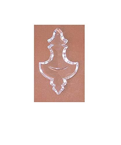 Rieser Markenqualität Kristall Glas Pendel - handgeschliffen - barocke Form - 130mm - mit eingeschliffenem Halbmond