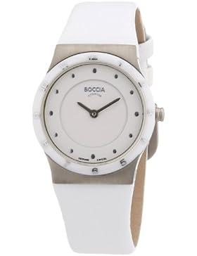 Boccia Damen-Armbanduhr XS Ceramic Analog Leder 3202-01