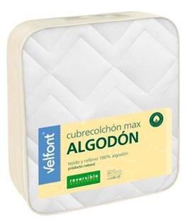 Cubrecolchon-Protector de colchón MAX REVERSIBLE cama 90 X 200. ALGODÓN 100%. Producto natural 100%.