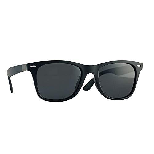 DING-GLASSES Gläser Outdoor Sonnenbrillen Polarized Light Full Frame Square for Herren Outdoor Angeln Fahren Sonnencreme UV400 Kunststoff Acryl (Color : Black White Label)