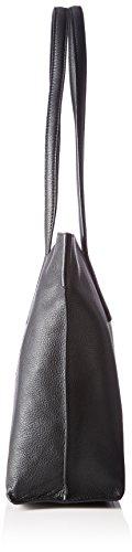 Bree Cary 5 Schultertasche 33 cm Leder Schwarz (Black)