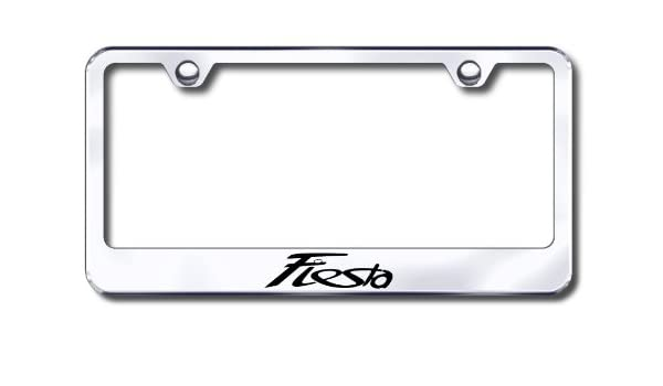 Ford Fiesta Black Metal License Plate Frame