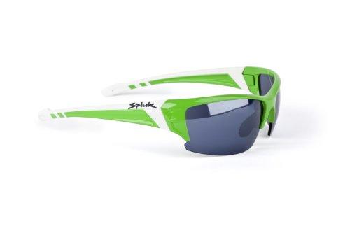 Spiuk Binomial - Occhiali per ciclismo unisex, colore verde / bianco