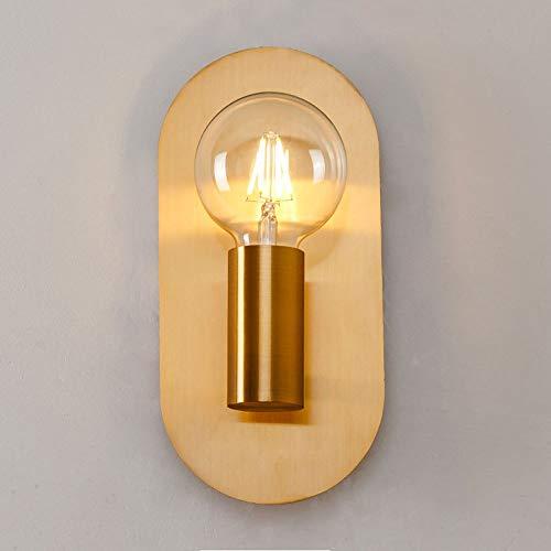 Chitty Nordic Gold Wandlampe Kreative Persönlichkeit Einfaches Nachttischlampe Schlafzimmer Wohnzimmer Bad Spiegelleuchten 1 * E27 12cm * 25cm warm