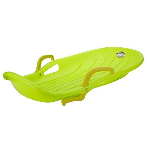 Youye 100cm durable downhill sprinter slitta da slitta da neve per bambini ragazzi ragazze adulti con freni e corda da tiro,green