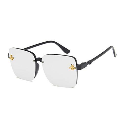 Sonnenbrille Übergroße Square Kinder Sonnenbrille Celebrity Sonnenbrille Jungen Designer Female Uv400 Schwarz Silber