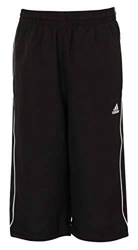 adidas Boys ESS 3/4 Woven Climalite Trainingshosen, Schwarz, 3-4 Jahre