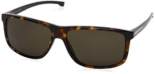BOSS Hugo Herren 0875/S NR P0I Sonnenbrille, Braun (Dkhavn Crystal/Brw Grey), 60