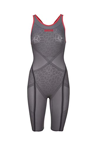 arena Powerskin Carbon Ultra Damen Racing-Badeanzug Open Back Dark Grey/Red, 22